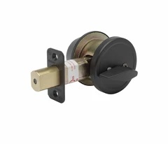 Commercial Grade 2 Security Single Cylinder Deadbolt In Satin Stainless