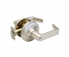 Commercial Non-Handed Grade 1 Security Keyed Entry With Push Button Lever In Satin Stainless