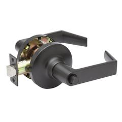 Commercial Non-Handed Grade 1 Security Push Button Privacy Lever In Oil Rubbed Bronze