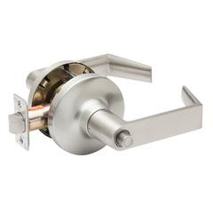 Commercial Non-Handed Grade 1 Security Push Button Privacy Lever In Satin Stainless