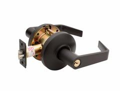 Commercial Non-Handed Grade 2 Security Classroom Lever In Oil Rubbed Bronze