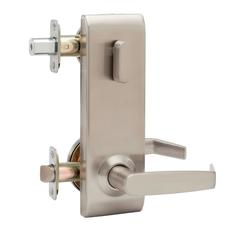 Commercial Non-Handed One Point Locking Interconnected Lock Lever In Satin Stainless