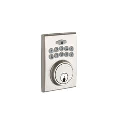 Fashion Electronic Push Button Deadbolt In Satin Stainless