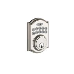 Heritage Electronic Push Button Deadbolt In Satin Stainless