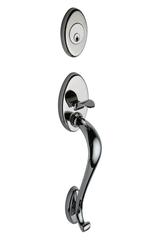 Mediterranean Handleset In Polished Stainless